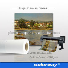Waterproof artists Cotton and Poly Blend digital blank inkjet canvas roll prints for wholesale