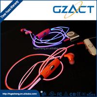 Factory price EL earphones led earphones with microphones
