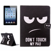 Durable Material Horizontal Flip Pattern PU Leather Case for iPad 4 with Card Slots