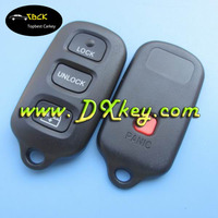 3+1 buttons car key case With Square panic buttin for toyota key shell toyota key holder