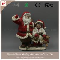 White Porcelain Christmas Ornament Santa Claus And Deer