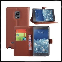 Newest design comfortable wallet leather case for samsung galaxy note edge