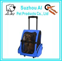 Traveler Roller Backpack for Cats and Dogs Pet Carrier With Wheels