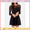 Ladies clothing long sleeve black dress mesh with perfect polka dot large open keyhole sexy women dresses