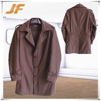 High end fashion wholesale clothing/long style leather coat/leather jacket men