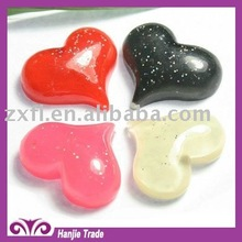 2012 New 21mm sweet pink heart flat bottom resin decoration charms cabochon for bridal shower gift