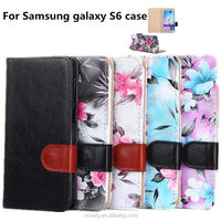 For the girls use the smartphone cases with stand and card for Samsung galaxy S6 hot new products for 2015