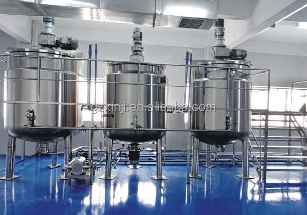07 Stainless Steel Electric heating mixing tank with Agitator Factory in Guangzhou China