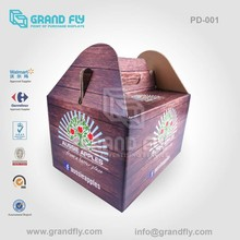 PD-001 Customized Made Wine Cardboard Carry Box with Handles