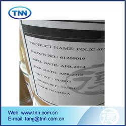 crystal powder top quality Folic Acid by TNT /DHL / Fedex