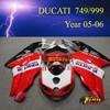Racing motorcycle Fairing kit for Ducati 749 999 2005 2006 05 06 body kit