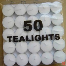 tealight candle /pure paraffin wax candle / tea light with AL tin