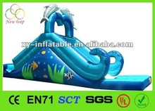 Mini inflatable dolphin water slide