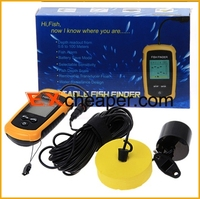 Waterproof Depth Sonar Portable Sonar LCD Fish Finder Alarm 100M AP ice fishfinder