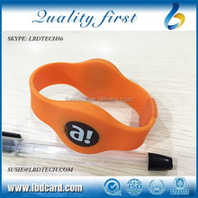 13.56MHz Active MF 1K S50 RFID Bracelet for Access Control