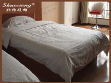 De alta qualidade 100% algodão lençol tecido para hotel feito em hebei