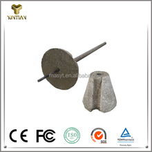 High density aluminum base slag dart for improve molten steel