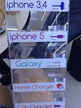 Customized laser cut acrylic cell phone accessory display rack