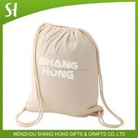 photo printing cotton drawstring backpack