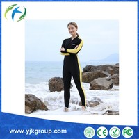 2015 latest hot sale diving snorkeling jumpsuits yellow wetsuit
