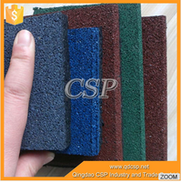 high quality recycled rubber flooring for gym /perforated rubber mats
