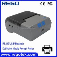 Portable receipt printing 58mm bluetooth wireless dot matrix printer