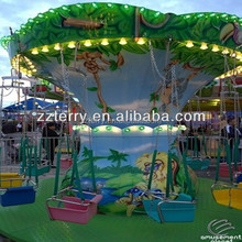 Mini Amusement park swing rides equipment small flying chair for sale