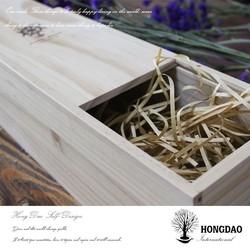 HONGDAO pine wood box,business card tin box