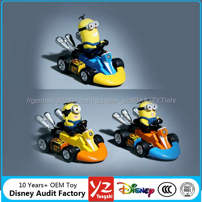 OEM hochwertige Minions spielzeug pvc-abbildung für kinder spielen, despicable Me pvc figuren mit kunststoff Auto