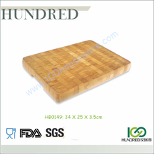 Personalized Bamboo Chopping Block End Grain, Bambu Chopping Board, Bamboo Thick Chopping Board with Handle