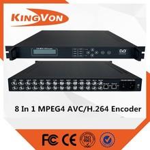 8 in 1 1080p h.264 cheaper hardware encoder for digital tv or iptv