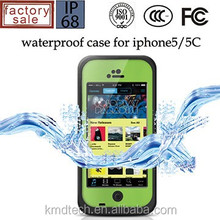 For iPhone 5C Waterproof Case Sealed Durable Dropproof Protective Cover With Gorilla Glass