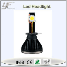 YF high power cob auto led car headlight 24w 2400lm daylight 6000K waterproof IP-68 bulb