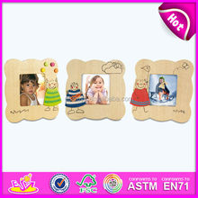 Beautiful design children picture holder for kids,wooden toy picture holder for children,small wooden wall photo frame wj27904