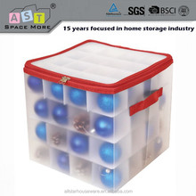 Alibaba Wholesale Folding plastic PP box / christmas zipper storage box with compartments