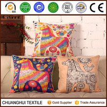 new arrival thick suede cartoon printed cushion cover for children