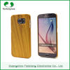 Wooden Pattern Finish Shockproof Anti-throw Anti-friction Wood Custom Case For Samsung S6 Edge PC Phone Case