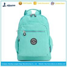 Korean style candy color sweet nylon backpacks for Girls
