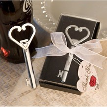High Quality Heart Accented Key Bottle Opener Favors
