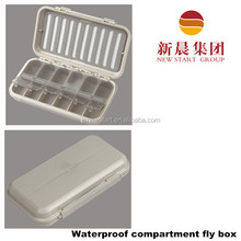 Waterproof fly fishing fly box, small compartments insert fly box