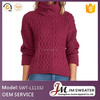 latest cable designs turtle neck winter sweater for girl