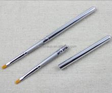Silver Color Portable Lip Brush , Retractable Lip Brush Wholesale
