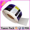 Yason pvc label sticker blank logo label stickers anti-fake barcode stickers