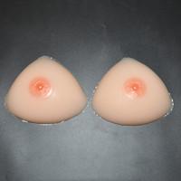 Triangle Skin Color Silicone Breast Forms, Artificial Breast Pad