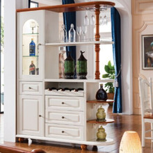 Unique whit color solid wood divider cabinet furniture wood for selling ,Dining side cabinet