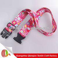 Fashion polyester heat transfer travel luggage belt