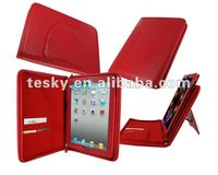 Newest zipper leather case for the new ipad