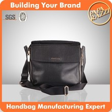 3646- Newest design men genuine leather shoulder bag for 2016 unisex