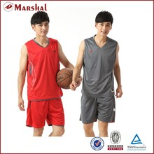 Polyester cheap price reversible basketball set
