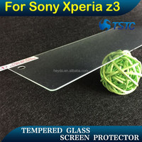 China metal privacy screens , 9H tempered glass screen guard for sony xperia Z3